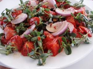 Mediterranean diet Herbs - Purslane salad