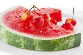 mediterranean diet cherries and watermellon