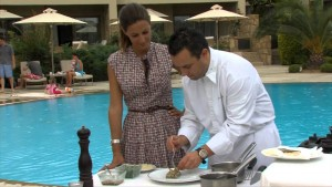 The Cooking Odyssey a Greek cooking show airs on PBS in USA